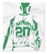 Gordon Hayward Boston Celtics Pixel Art T Shirt 5 Fleece Blanket