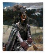 Gordon Setter Art Canvas Print - Philip Iv Hunting Wild Boar  Fleece Blanket