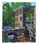 Gore Street Bridge Fleece Blanket