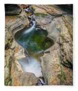 Gorge Trail In Autumn Watkins Glen Fleece Blanket