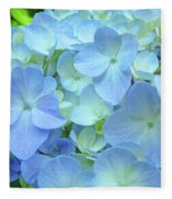 Gorgeous Blue Colorful Floral Art Hydrangea Flowers Baslee Troutman Fleece Blanket