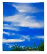 Gorgeous Blue Sky With Clouds Fleece Blanket