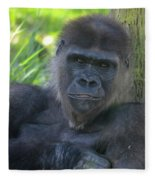 Gorgeous Gorilla Fleece Blanket