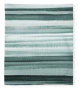 Gorgeous Grays Abstract Interior Decor II Fleece Blanket
