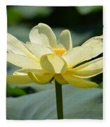 Gorgeous Lotus Flower Fleece Blanket