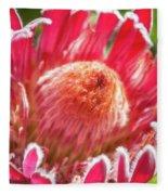 Gorgeous Pink Protea Bloom  Fleece Blanket