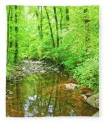 Georgia Stream In Summer Fleece Blanket