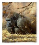 Gorilla Musings Fleece Blanket