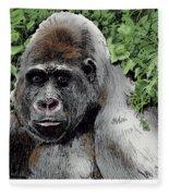 Gorilla My Dreams Fleece Blanket