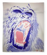 Gorilla Roars Fleece Blanket