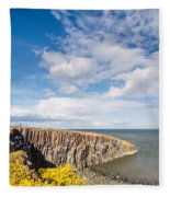 Gorse At Cullernose Point Fleece Blanket