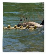 Goslings In A Row Fleece Blanket