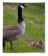 Goslings With Mother Goose Fleece Blanket