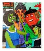 Gossips At The Greengrocer's Fleece Blanket