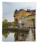 Gothenburg Canal And Park Fleece Blanket