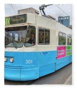 Gothenburg City Tram Fleece Blanket