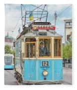 Gothenburg Liseberg Tram Fleece Blanket