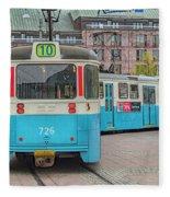 Gothenburg Public Tram Fleece Blanket