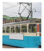 Gothenburg Tram Car Fleece Blanket