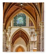 Gothic Arches - Holy Name Cathedral - Chicago Fleece Blanket