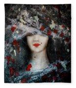 Gothic Beauty Fleece Blanket