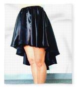 Gothic Black Satin High Low Skirt. Ameynra By Sofia Fleece Blanket