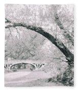 Gothic Bridge 28 Fleece Blanket