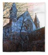 Gothic Church Fleece Blanket