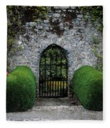 Gothic Entrance Gate, Walled Garden Fleece Blanket