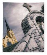 Gothic Faith Fleece Blanket
