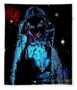 Gothic Female Model Fleece Blanket