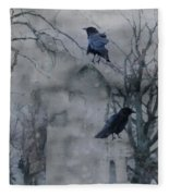 Gothic Gray Wash  Fleece Blanket