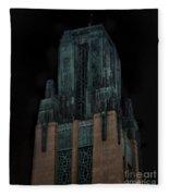 Gothic Night. Architecture Of Los Angeles Fleece Blanket