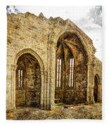 Gothic Temple Ruins - San Domingos - Vintage Version Fleece Blanket
