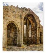 Gothic Temple Ruins - San Domingos Fleece Blanket