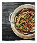 Gourmet Clam And Vegetable Seafood Stew In Spicy Tomato Sauce Fleece Blanket