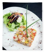 Gourmet Raw Tuna Tartare Ceviche With Mango Lime And Chilli Fleece Blanket