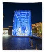 Goverment Center Boston Ma In Blue City Hall Fleece Blanket
