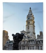 Government Of The People And City Hall Philadelphia Fleece Blanket