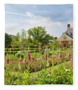 Governor's Ballroom Garden In The Spring Fleece Blanket
