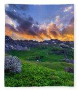 Governor's Basin Sunset Fleece Blanket