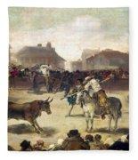 Goya: Bullfight, 1793 Fleece Blanket
