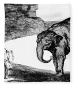 Goya: Elephant, C1820 Fleece Blanket