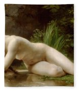 Grace In Nudity Fleece Blanket