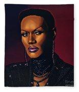Grace Jones Fleece Blanket