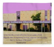 Grace Lutheran School Fleece Blanket