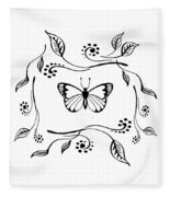 Graceful Butterfly Baby Room Decor Iv Fleece Blanket