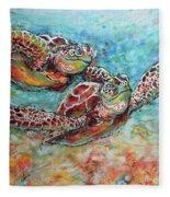 Sea Turtle Buddies Fleece Blanket