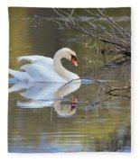 Graceful Swan I Fleece Blanket