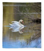 Graceful Swan Fleece Blanket
